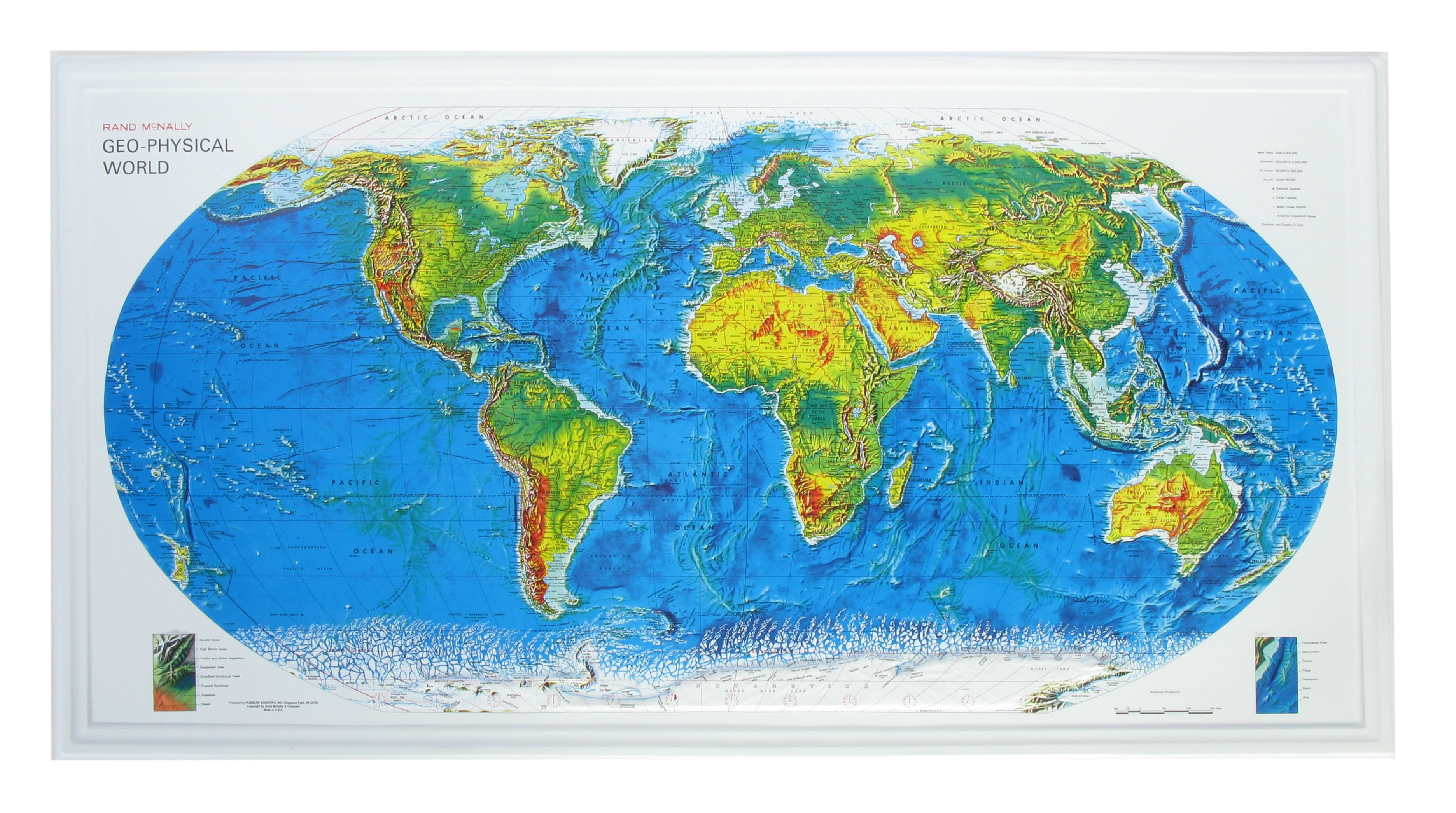 434g 3d relief world map rand mc nally world maps gumiabroncs Images