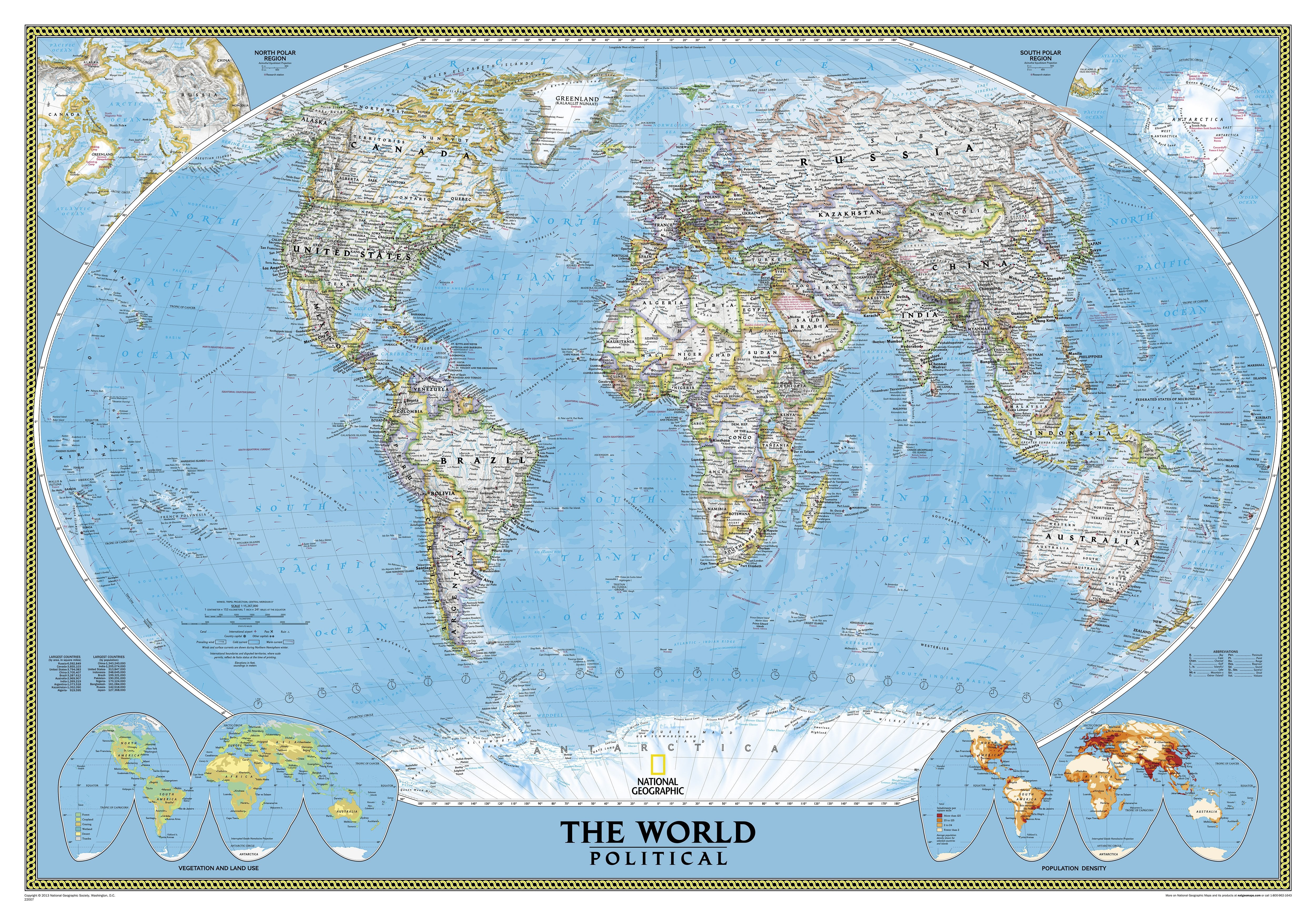 Political World Map Super Large Size World Maps - National geographic world maps for sale