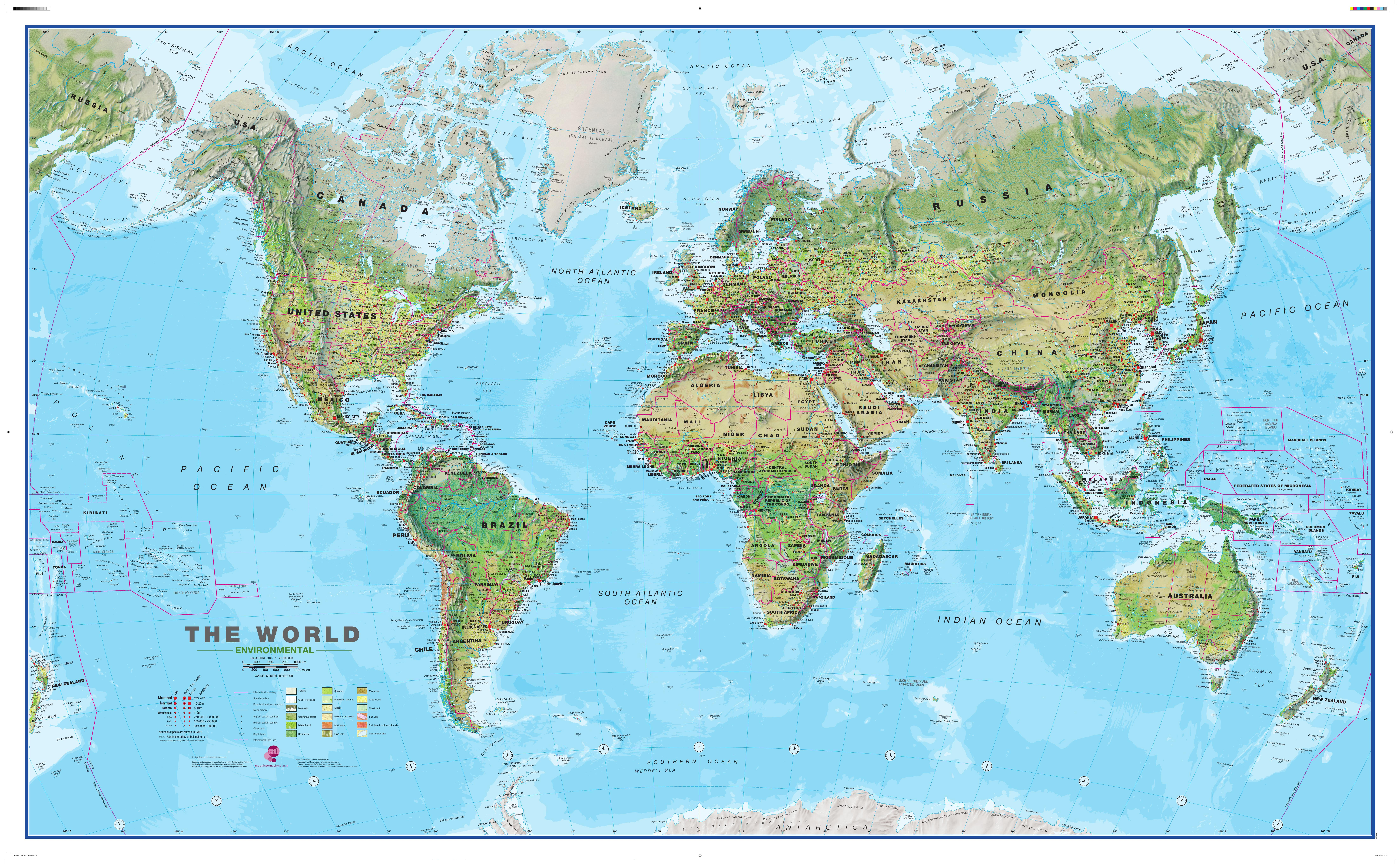 Physical World Map Mio World Maps - Chile physical map