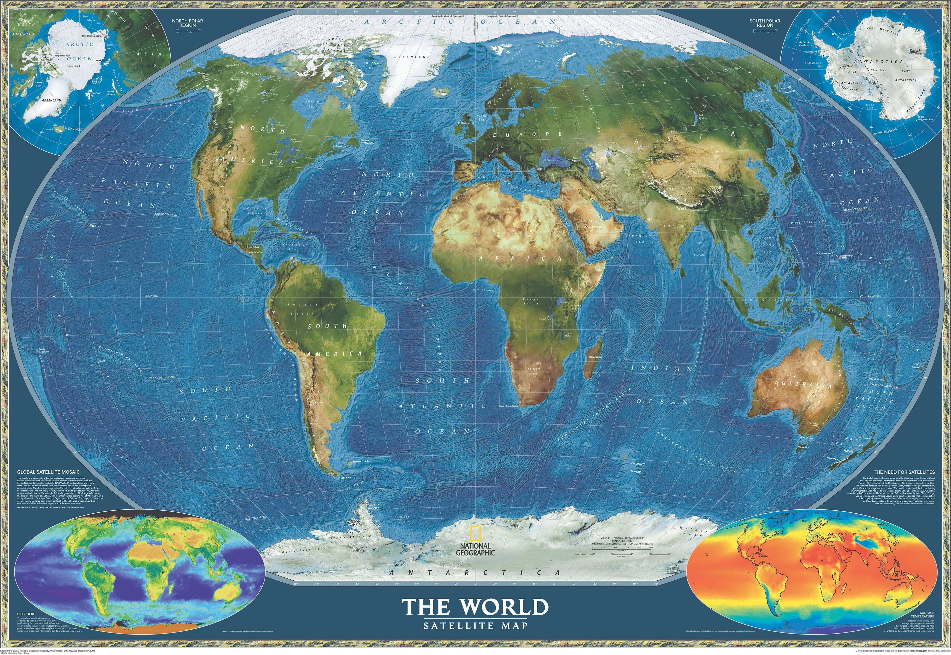 South Pole World Map.Satellite World Map World Maps