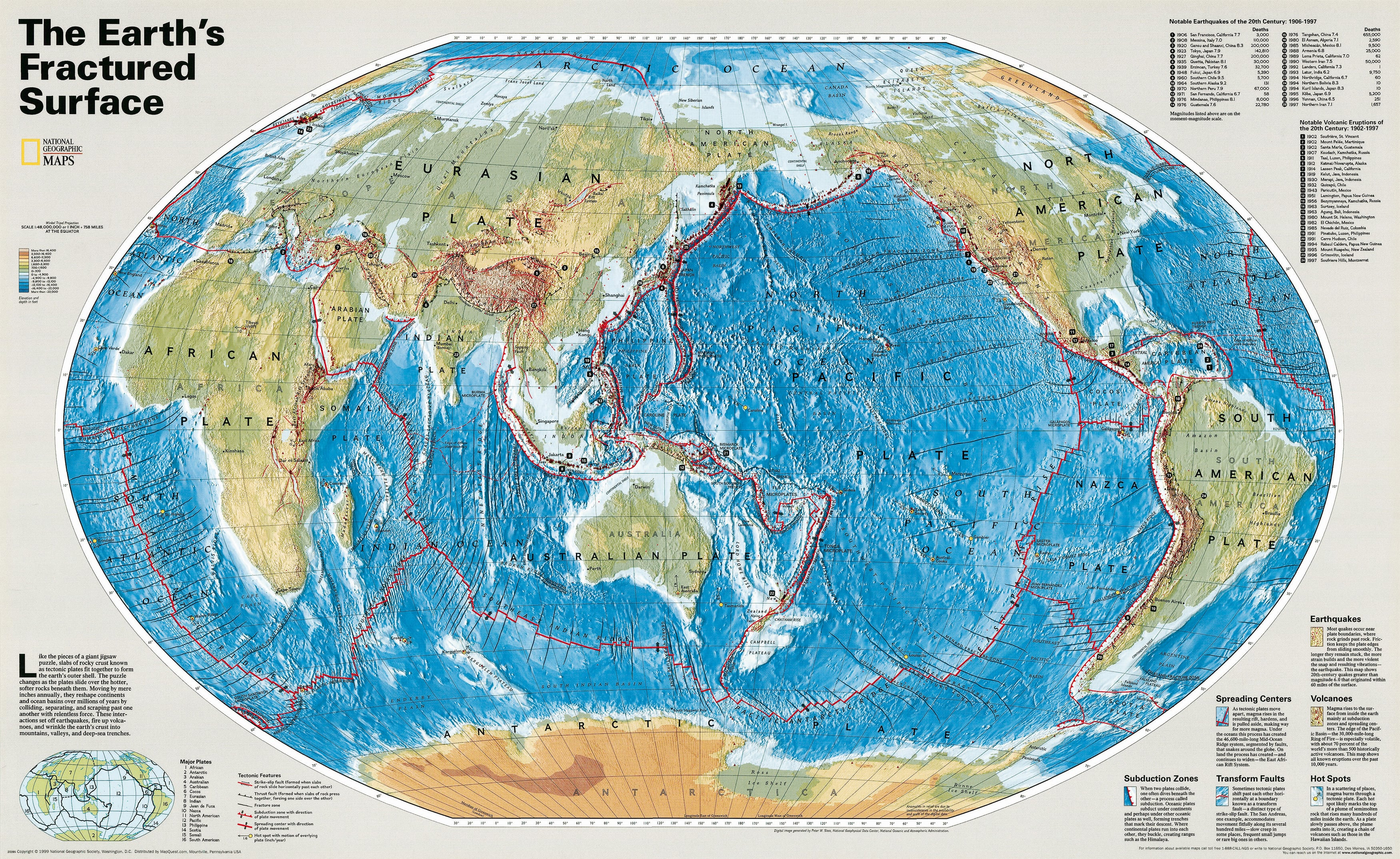 The Earths Fractured Surface World Maps - Authentic world map