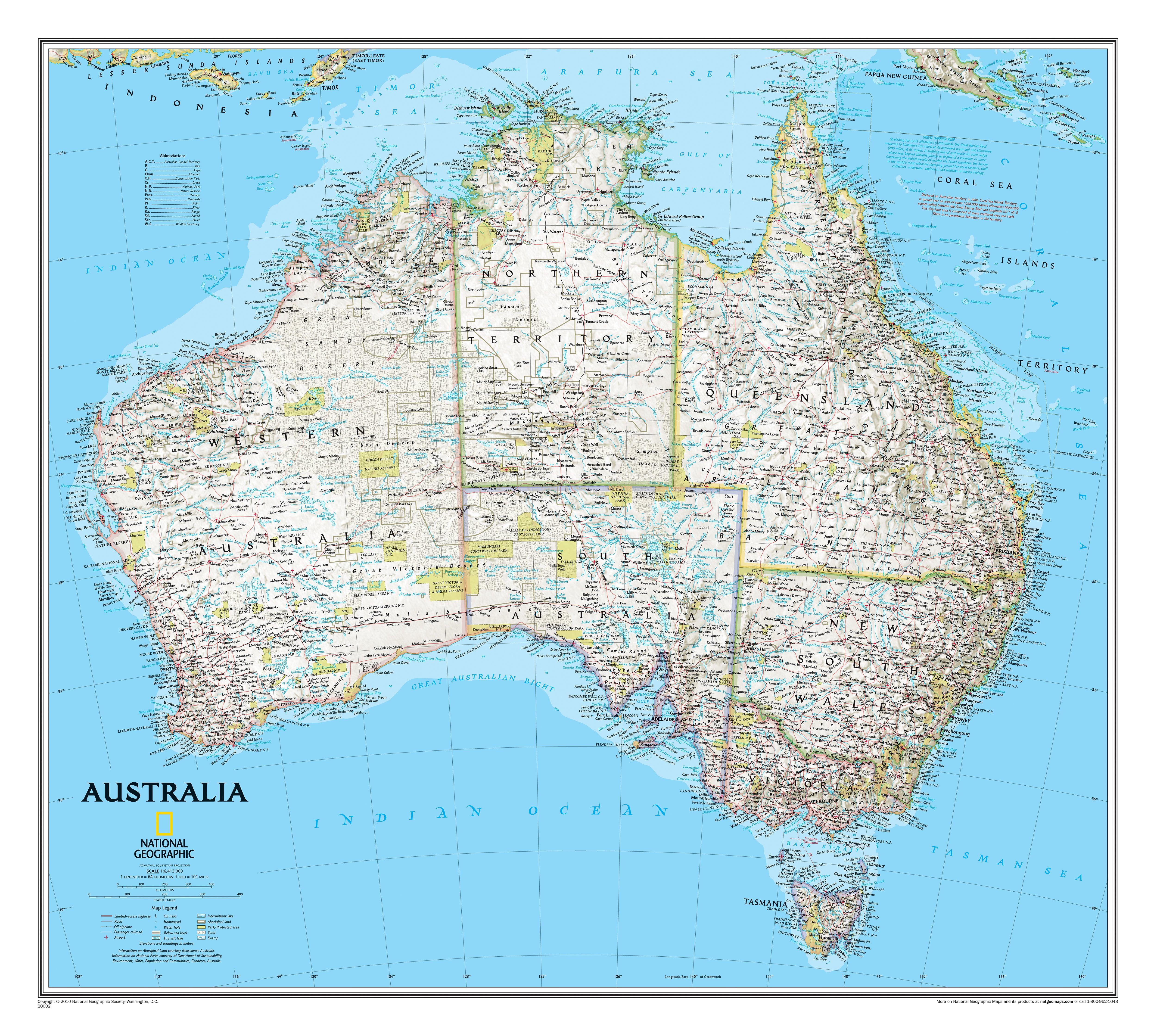 Australia wall map continentmaps wall maps gumiabroncs Choice Image