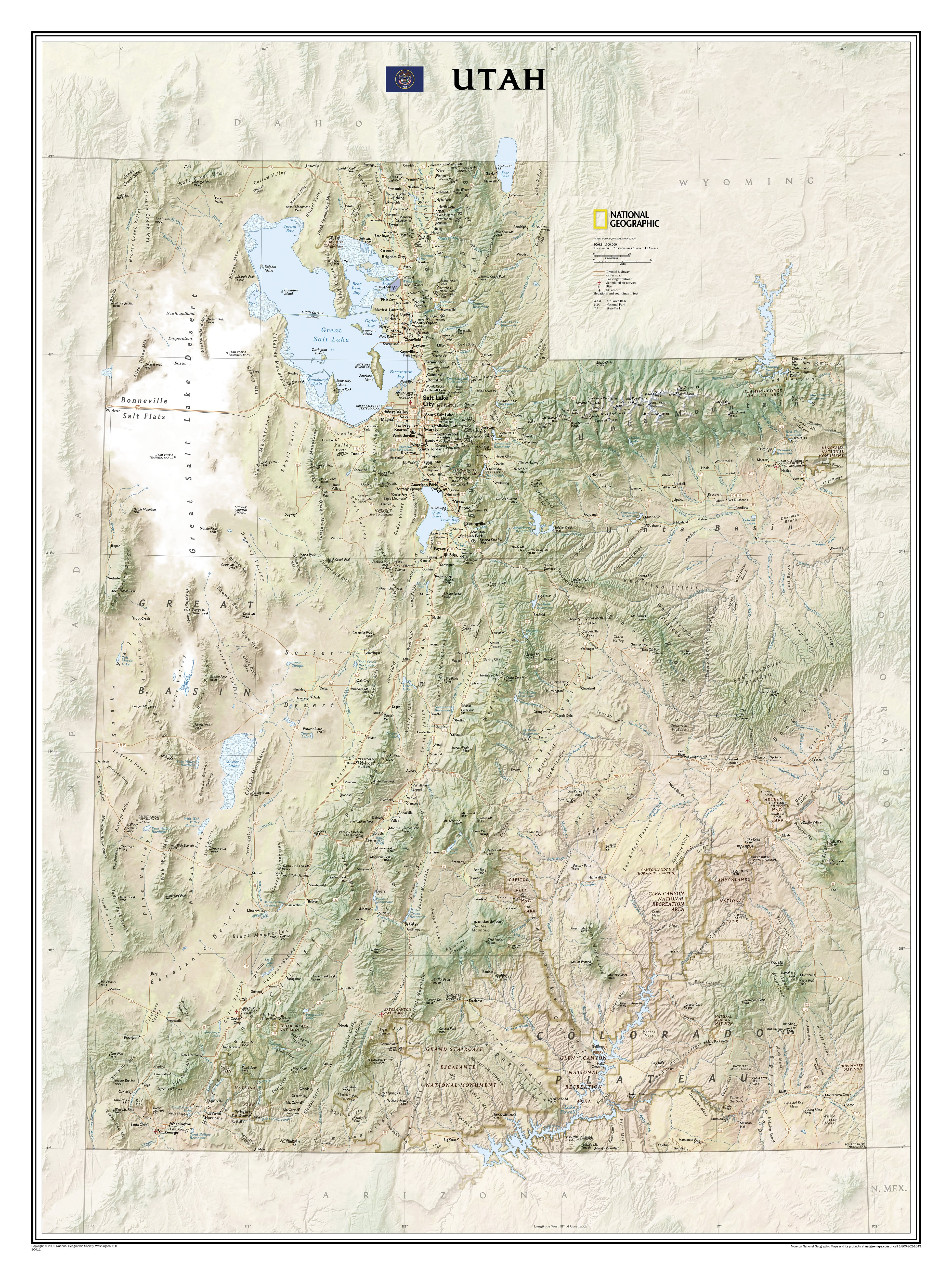 Utah Wall Map Countries Regions Maps Wall Maps - Laminated state wall maps